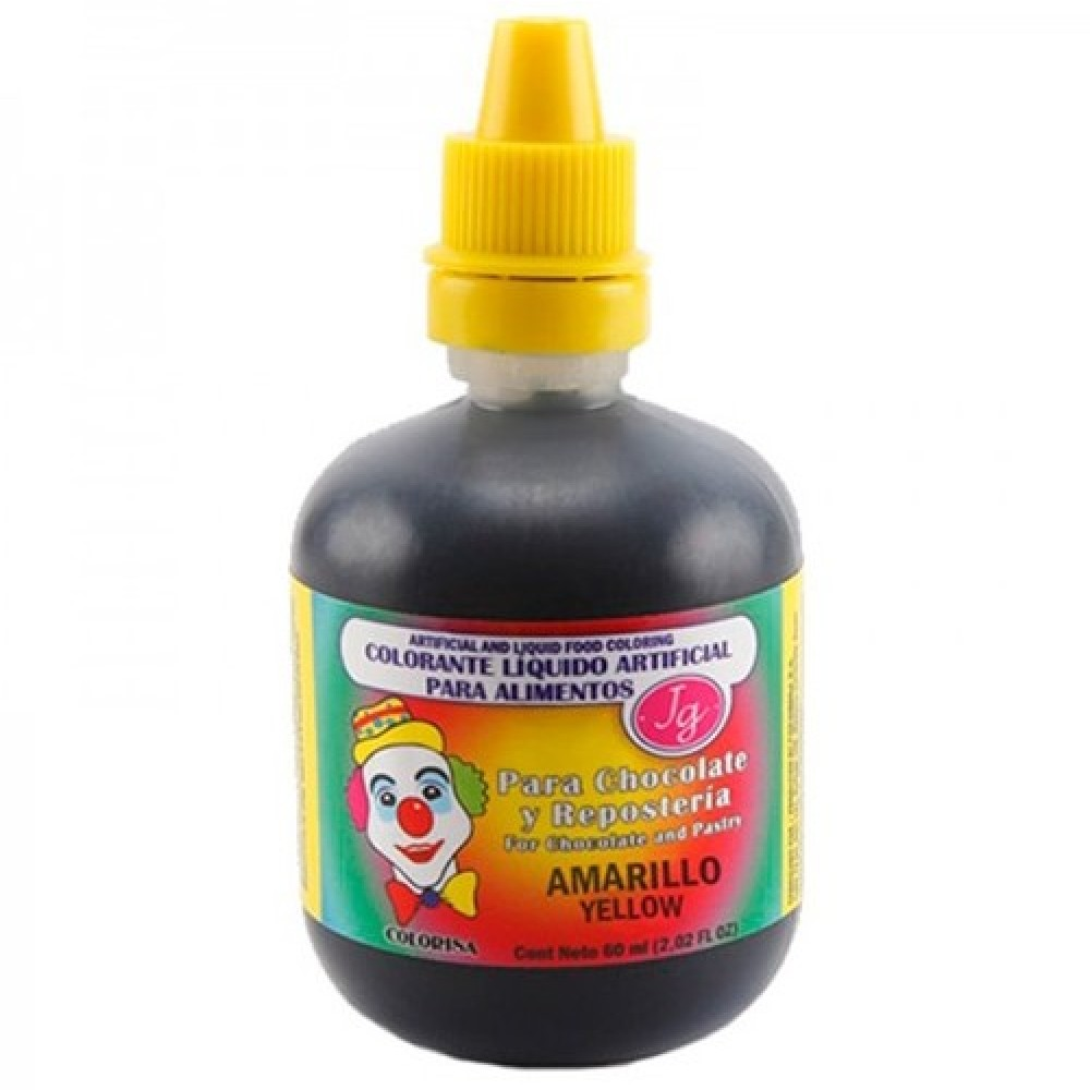 Colorante líquido amarillo 60ml - Colorisa