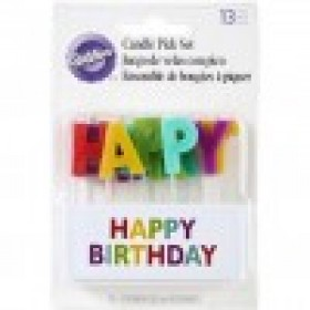 Velas happy birthday multicolor x 13 pcs